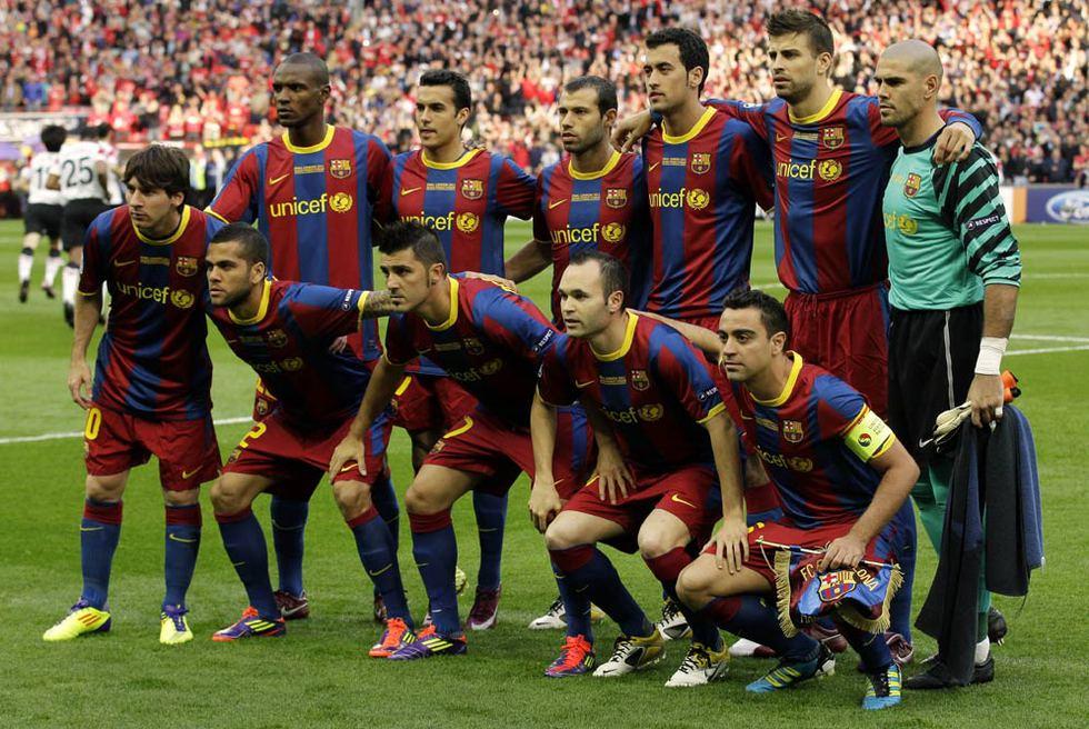 El 'once' del Barça