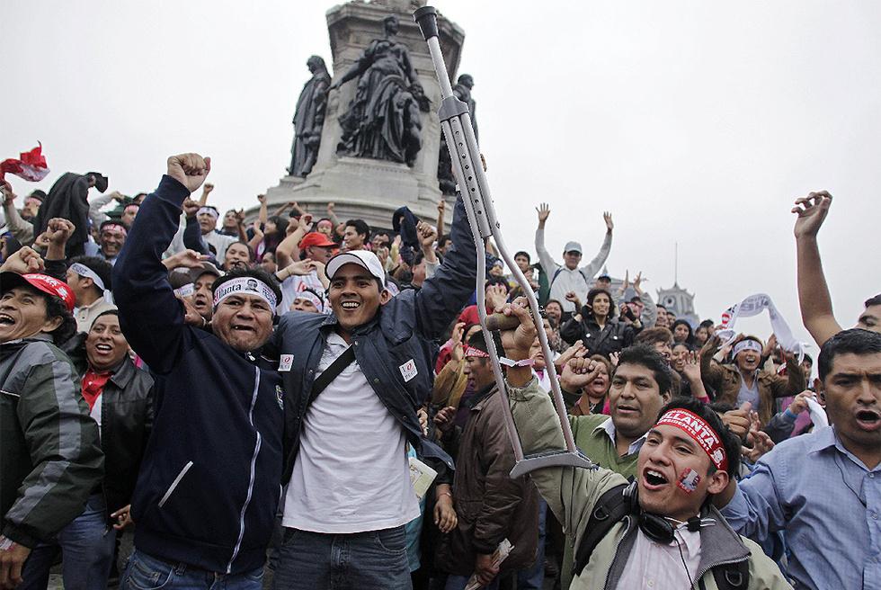Celebration of Humala Victory