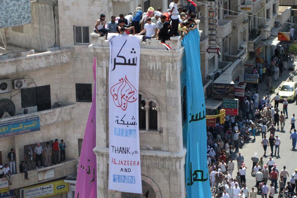 Manifestación contra El Asad