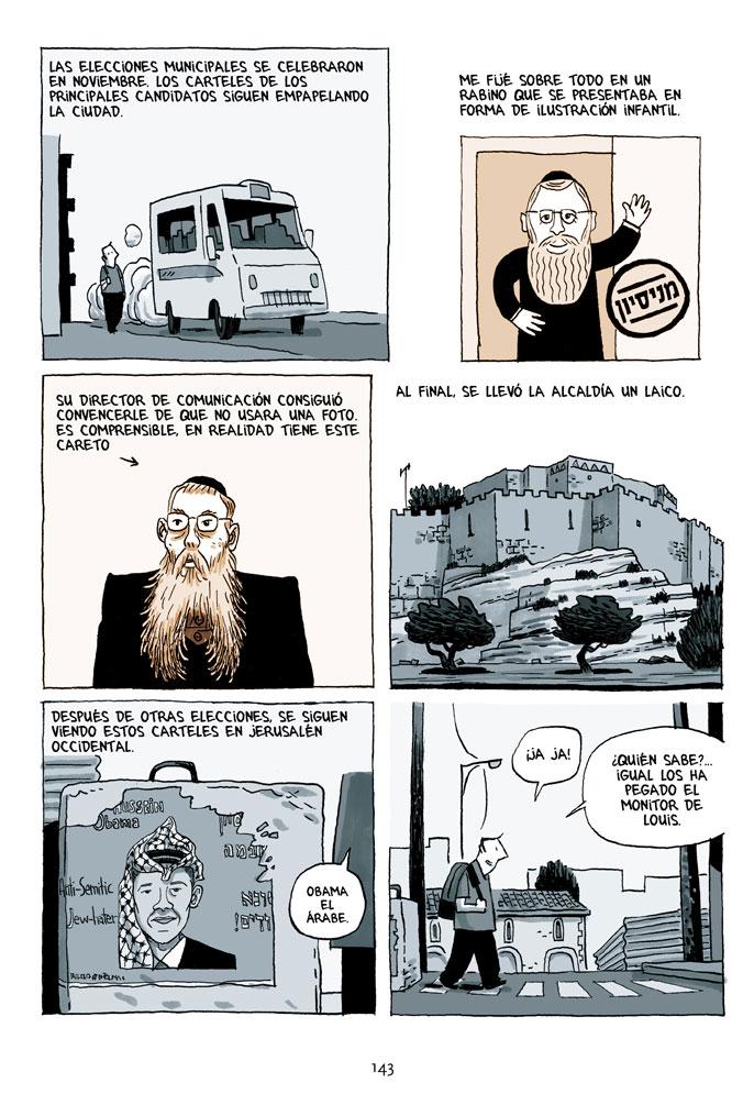 Viñetas pertenecientes a 'Crónicas de Jerusalén'