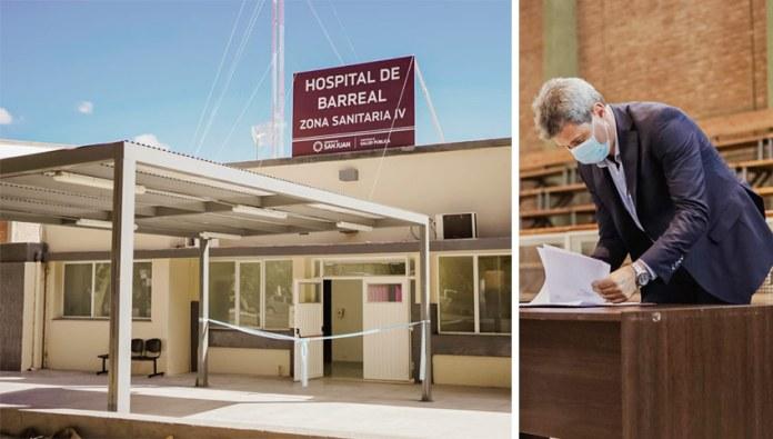 Uñac destacó ante Alberto Fernández la importancia del nuevo Hospital Aldo Cantoni