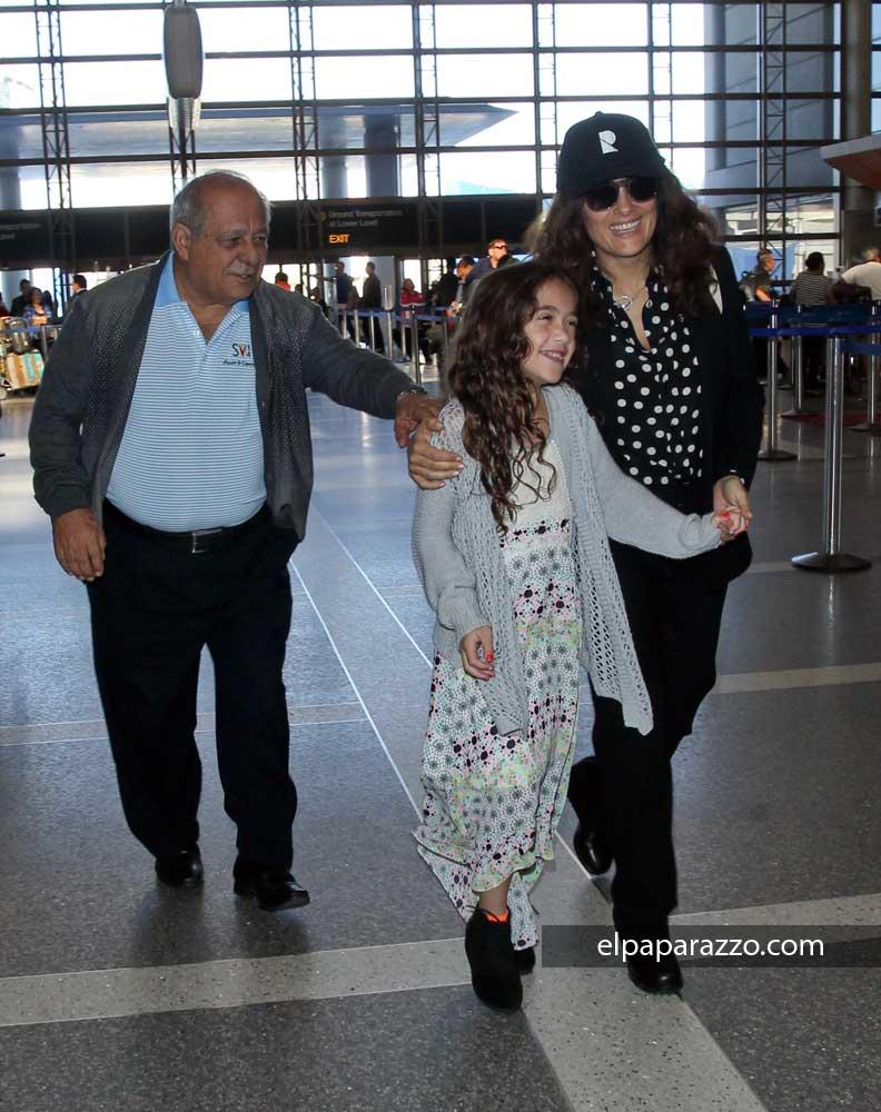 Salma Hayek junto a su hija Valentina Pinault y don Sami Hayek