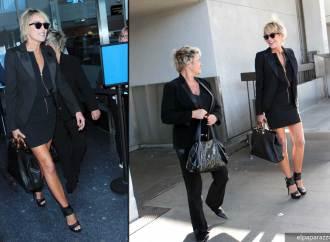 Encontramos a Sharon Stone a su llegada de Las Vegas