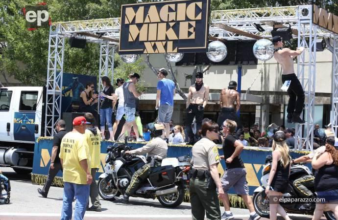 La pista de baile de la carroza de Magic Mike XXL.