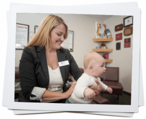 blog picture of chiropractor checking baby's back