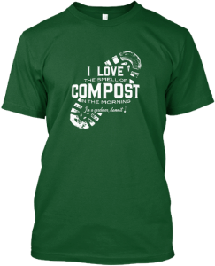 i love the smell of compost on the morning men's green t-shirt