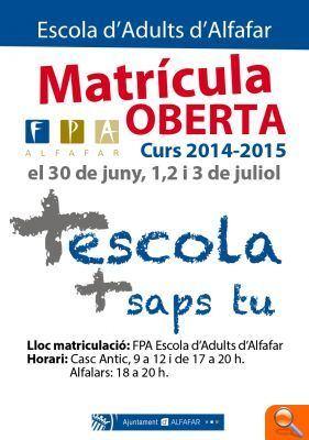 La EPA de Alfafar abre el plazo de matriculación del curso 2014-2015 tras celebrar su XXX Semana Cultural