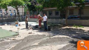 L'Ajuntament d'Alfafar acomete las obras de adecuación del patio infantil del CEIP Orba