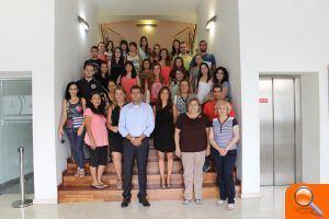 "Los 31 universitarios de ""la Dipu te beca"" han finalizado hoy sus prácticas en l'Ajuntament d´Alfafar"