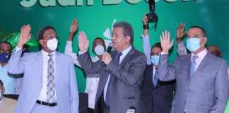 La Fuerza del Pueblo juramenta a senadores y dirigentes del PLD