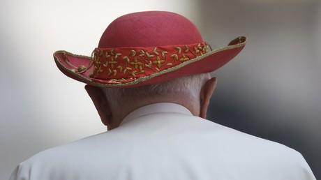El papa Benedicto XVI en San Pedro del Vaticano.