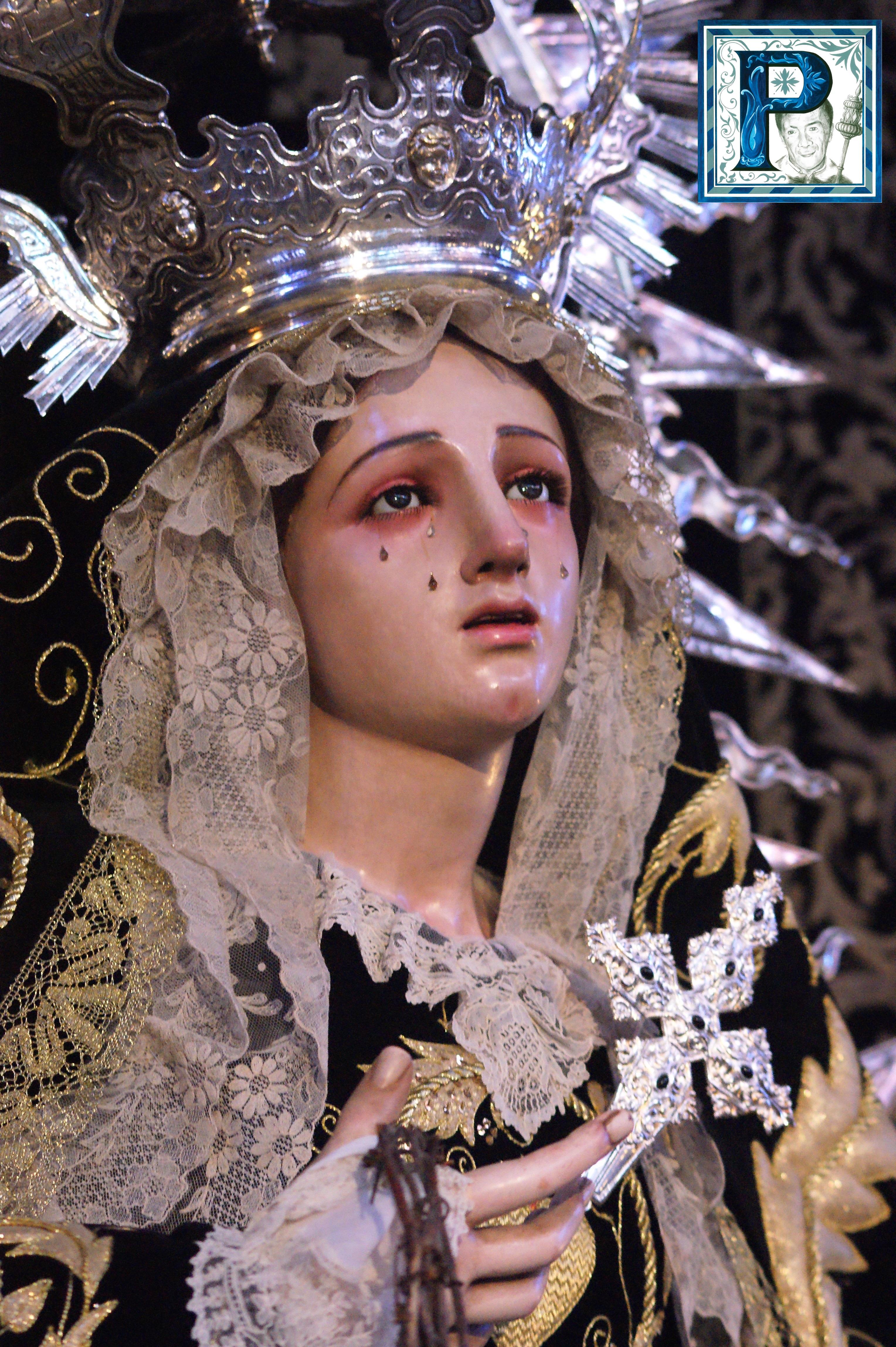 La Virgen de la Encarnación, Esperanza, O, Paz y Concordia, Ángeles, Rosario de los Montañeses y Traspaso ataviadas para la festividad de los Fieles Difuntos