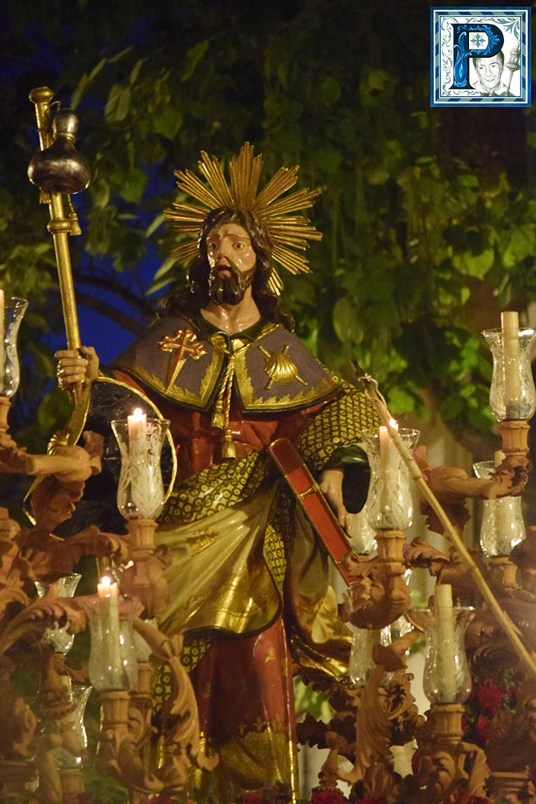 El Apóstol Santiago procesiona hoy por las calles de su feligresía
