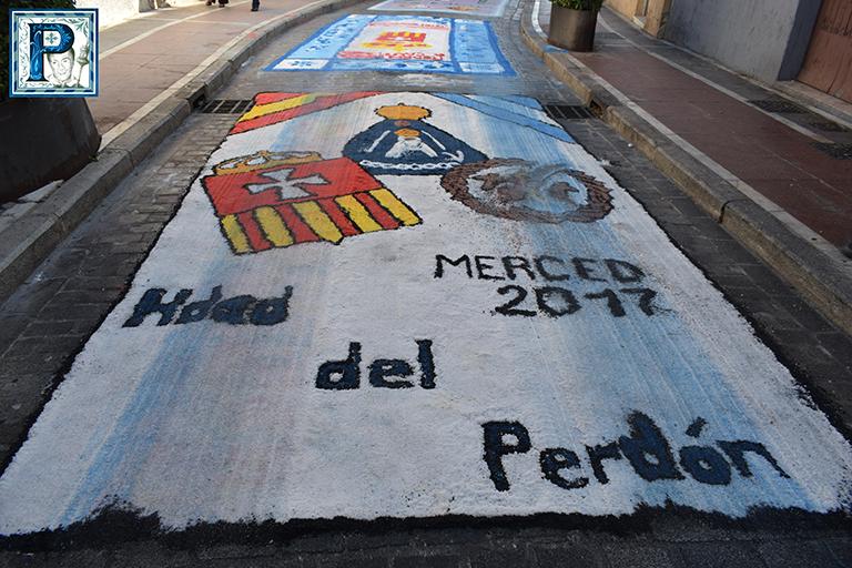 Las alfombras de sal para la Virgen de la Merced desde el objetivo de Lucas Álvarez