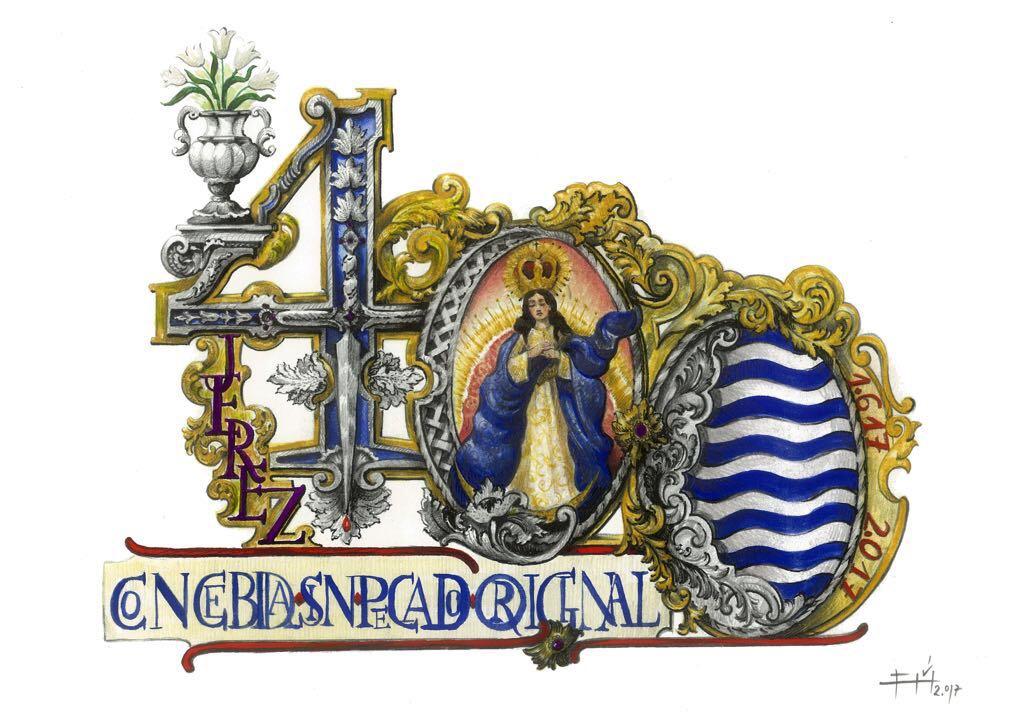 Jesús Guerrero firma el logo oficial del IV Centenario del Voto Concepcionista