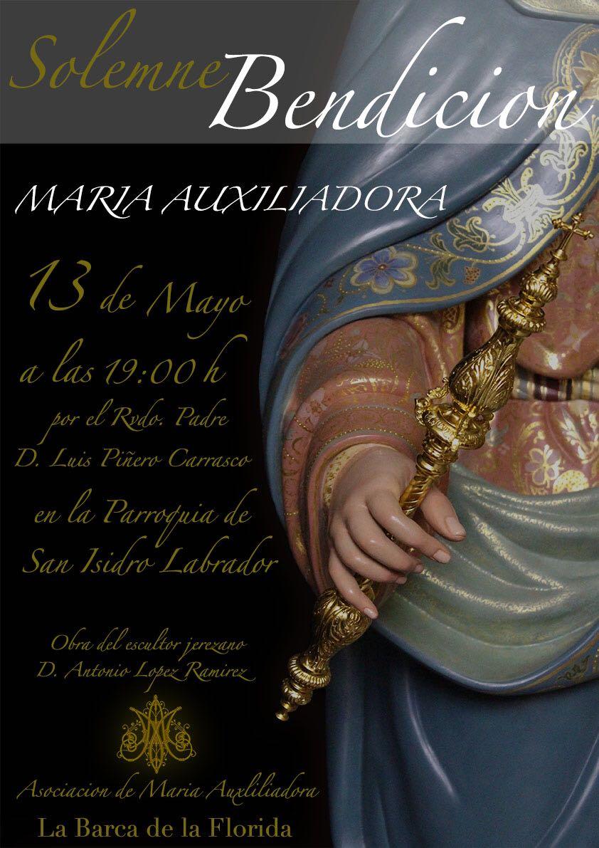El 13 de mayo se bendecirá María Auxiliadora de La Barca de la Florida