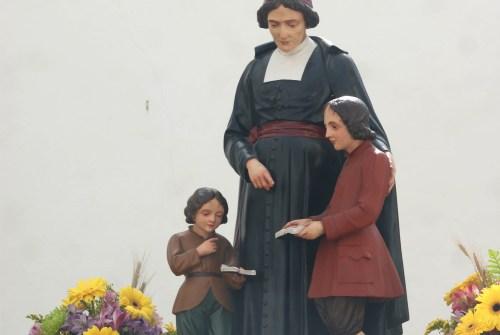 Misa en honor a San Juan Bautista de la Salle en la Borriquita