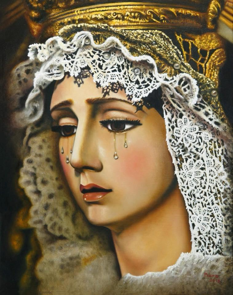 Una pintura al oleo obra de Juan Luis Muro, ilustra la portada del Boletín Informativo de la Exaltación