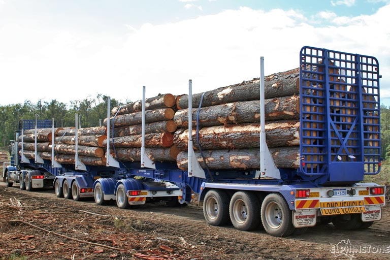 Loading Logs On A Trailer