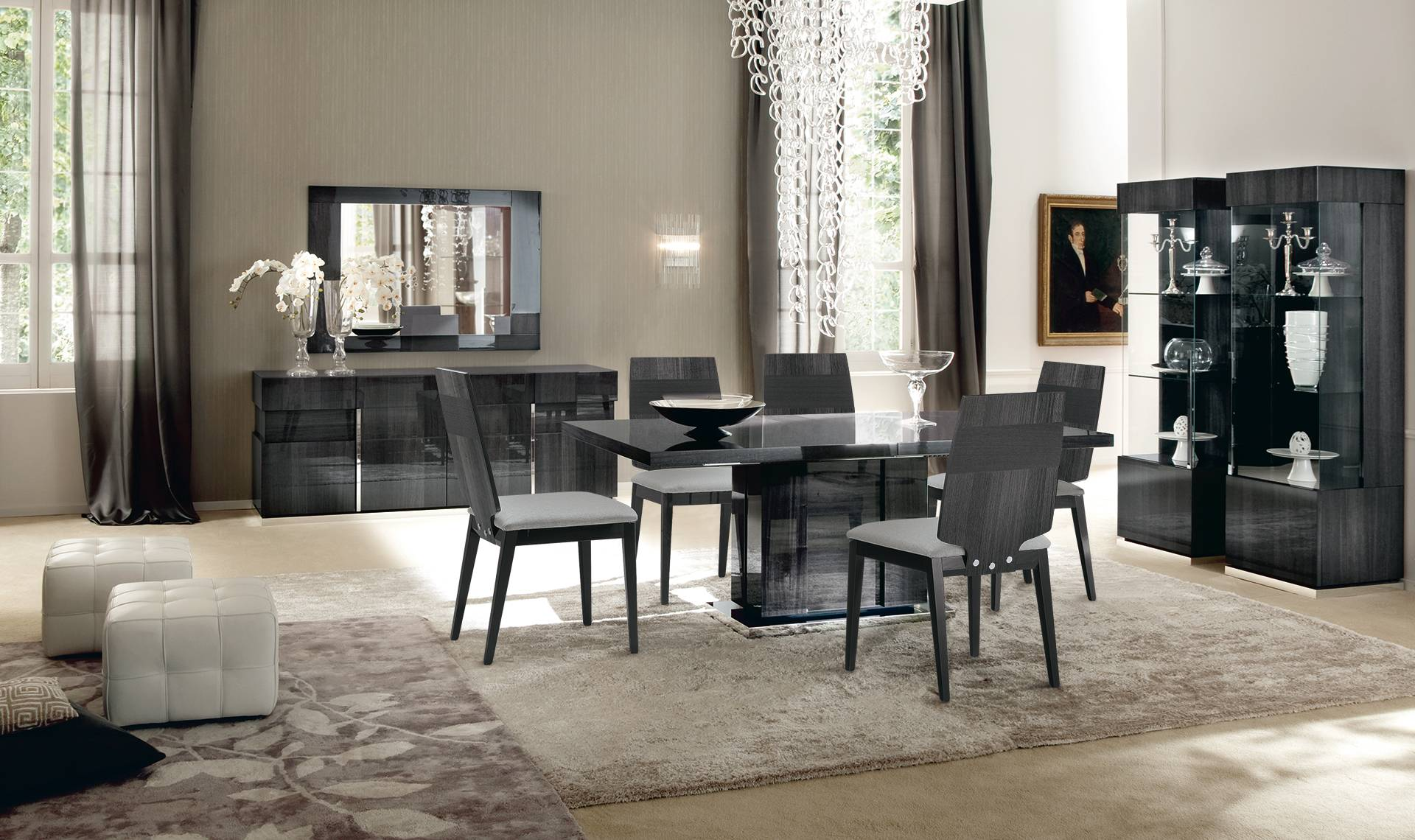 ottoman tables living room indian traditional interior design ideas for rooms alf italia montecarlo table - extending dining ...