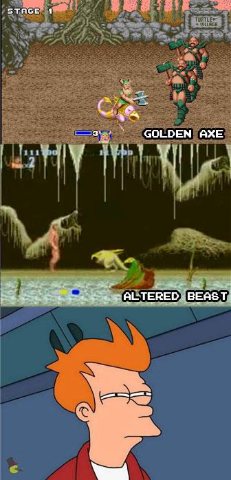 Altered Beast y Golden Axe
