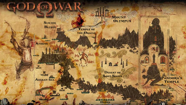 mapa god of war