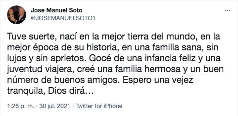 José Manuel Soto franquismo