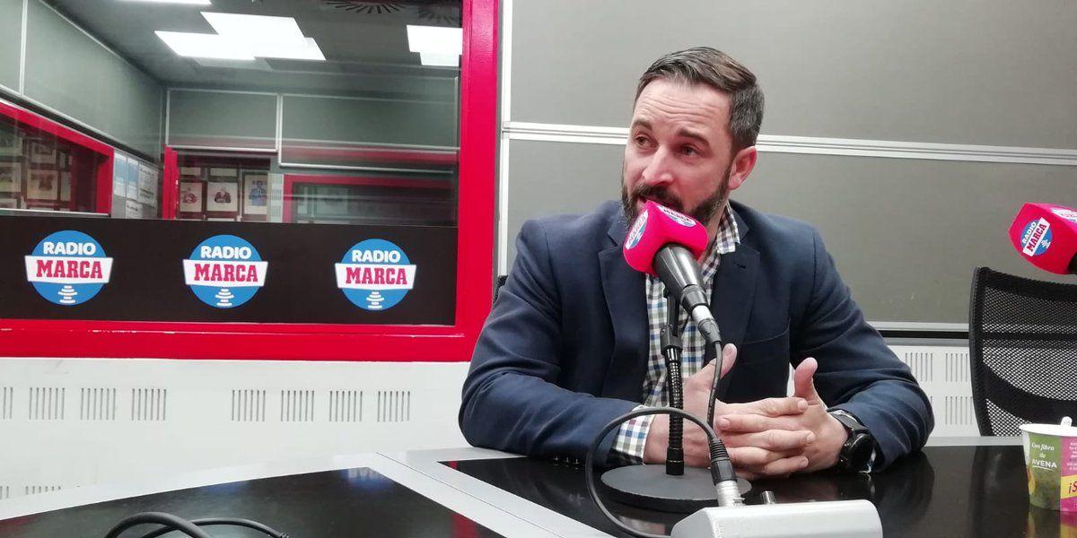 Santiago Abascal en Radio MARCA. Twitter: @RadioMARCA