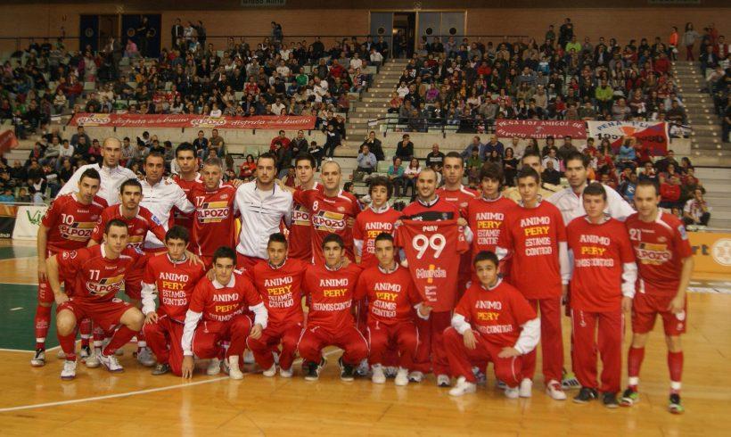 Homenaje a Pery, jugador de CD Murcia FS