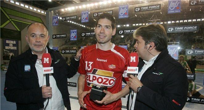 Kike Boned, jugador 'Time Force' ante Inter Movistar