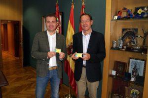 El Alcalde y el concejal de Deportes de Murcia