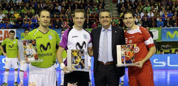 La LNFS homenajea a Kike, Álvaro y Luis Amado