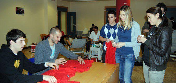 Rafa, Fabio Y Fran Serrejón con la Donación de Sangre UMU
