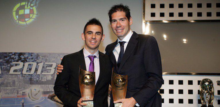 Kike, Álex y Duda reciben los premios como 'Mejores 2012-13' que entrega la LNFS