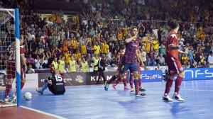 Celebración de un gol del Barcelona