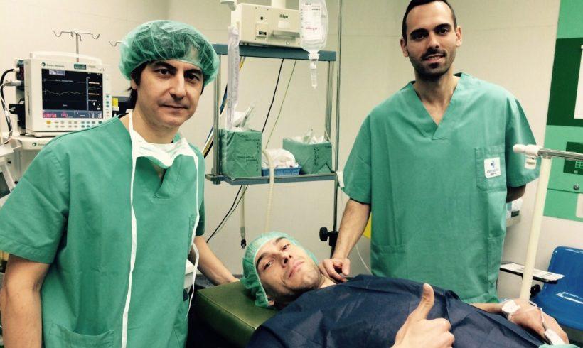 Parte médico Rafa, tras realizarle artroscopia
