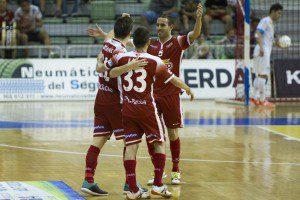 Murcia, 18-09-2015, Liga LNFS 1 Division, encuentro entre El Pozo Murcia vs Catgas Energia Santa Coloma, Palacio de los deportes de Murcia, Jornada 2, Temporada 2015-2016.