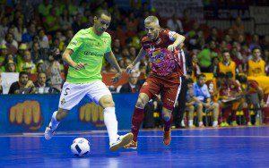 Sevilla, 07-05-2016, Final Copa de S.M El Rey de Futbol sala, encuentro entre ElPozo Murcia vs Palma Futsal, Palacio de Deportes San Pablo, Temporada 2015-2016.