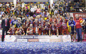 Super Copa de Espana, LNFS, encuentro entre Inter Movistar vs ElPozo Murcia FS, Pabellon Fernando Arguelles, Antequera, Malaga 08-10-2016. Foto Pascu Mendez.