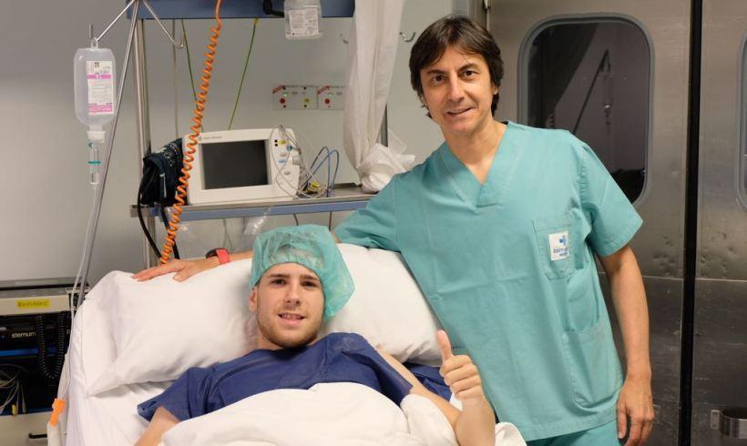 PARTE MÉDICO| Fernando operado con éxito del escafoides de su mano izquierda