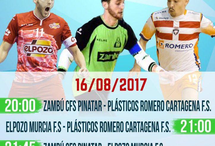 Pretemporada| Miércoles 16 Agosto: Triangular en San Pedro ante Plásticos R. Cartagnea y Zambú CFS Pinatar