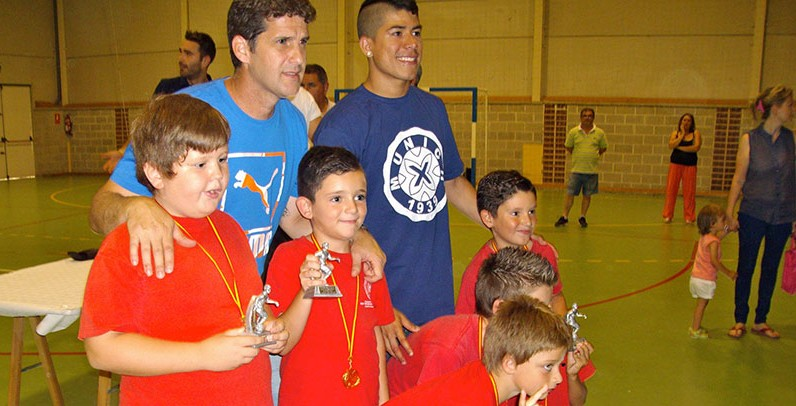 Duda y Franklin clausuran las escuelas de fútbol sala de Aljucer