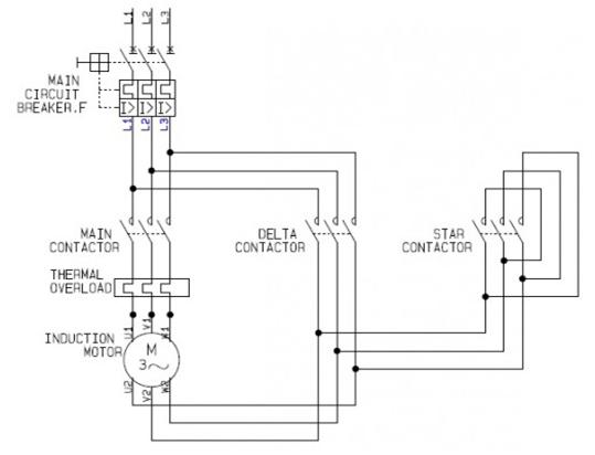 3 Phase Motor Wiring Diagram Star Delta