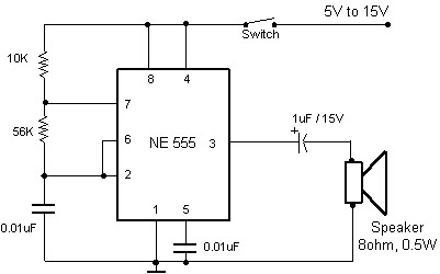 Quiz Buzzer Circuit using 8051 Microcontroller and 555