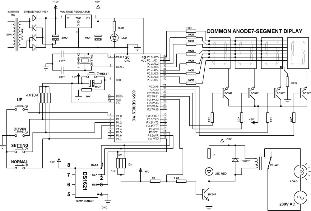 medium resolution of digital temperature controller schematic diagram