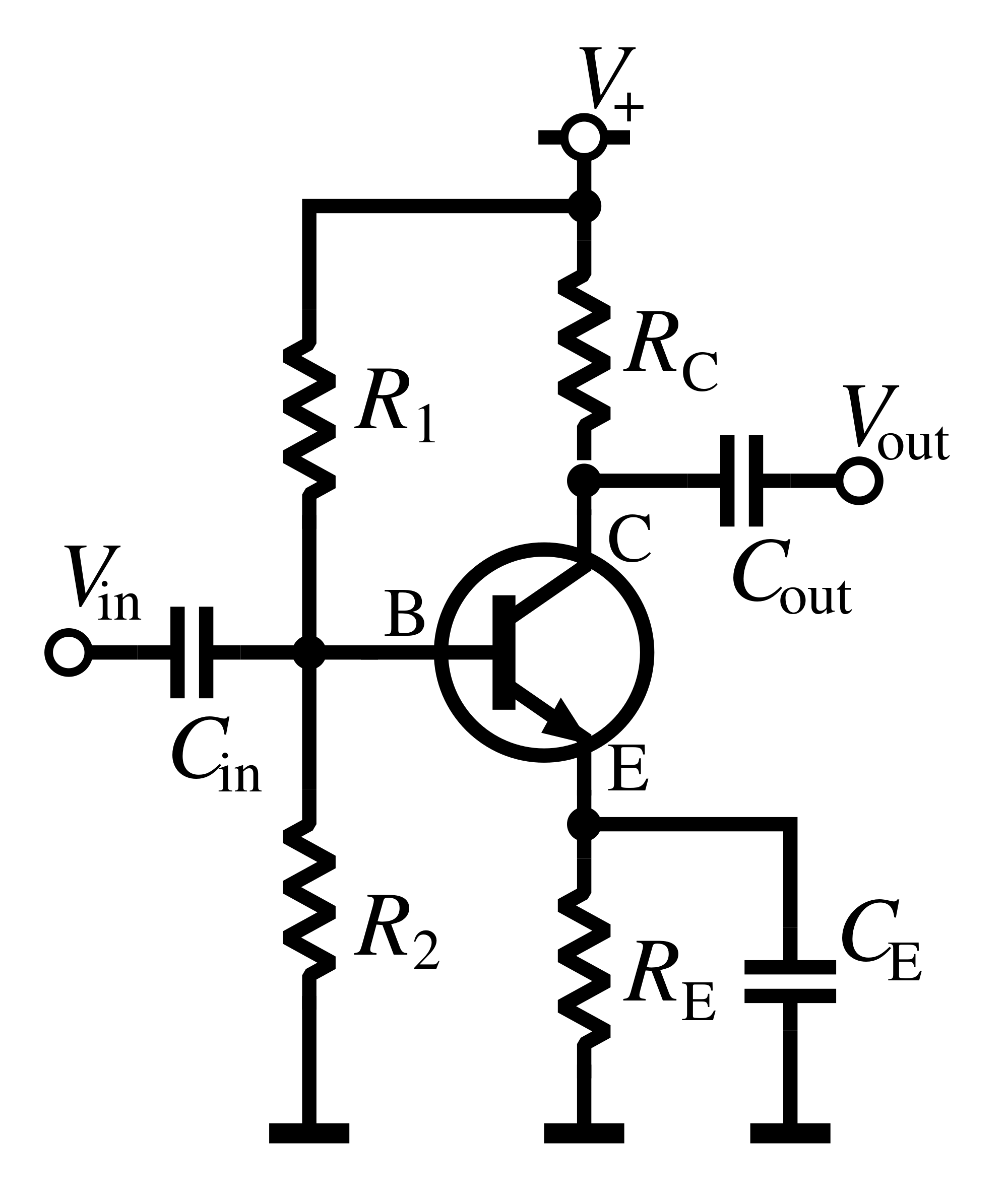 Transistor As An Amplifier Common Emitter Amplifier