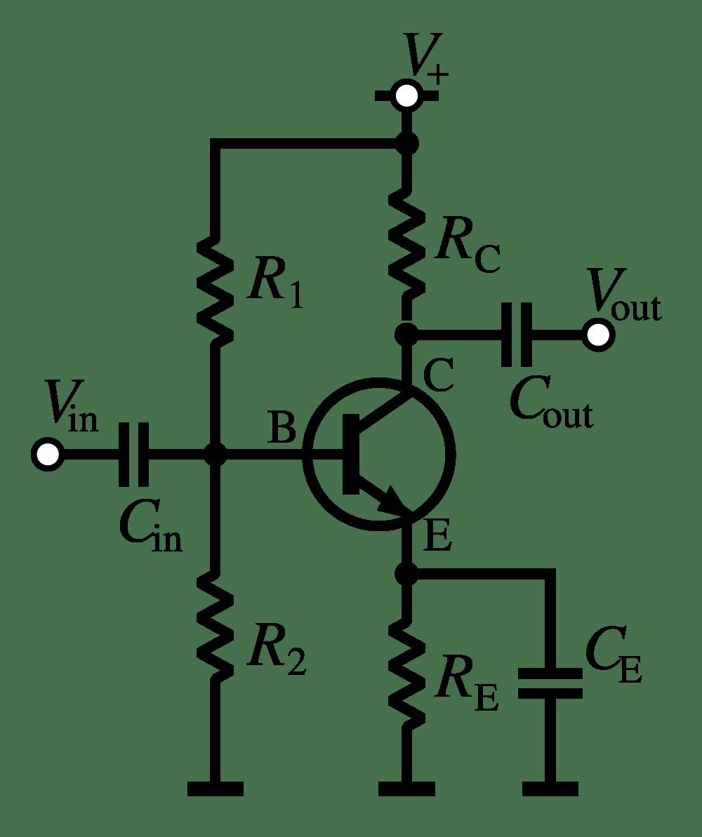 medium resolution of common emitter amplifier circuit diagram
