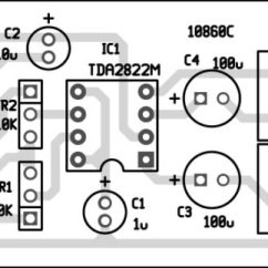 Audio Amplifier Circuit Diagram With Layout Why Template Designing Stereo Using Tda2822 And Its Characteristics Pcb Of
