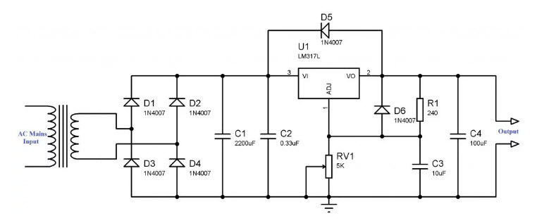 circuit diagram of power supply 24v