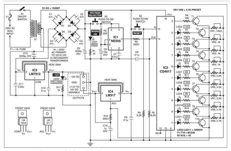 led street light pwm solar charge controller circuit diagram